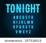 neon casino or broadway signs... | Shutterstock .eps vector #357518513