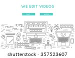 video edit and post production... | Shutterstock .eps vector #357523607