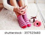 comfort concept   woman... | Shutterstock . vector #357525683