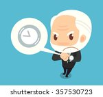 boss counting time. flat design.... | Shutterstock .eps vector #357530723