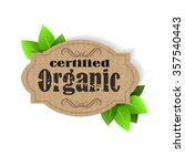 eco friendly label certified...   Shutterstock .eps vector #357540443