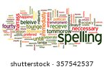 conceptual tag cloud containing ... | Shutterstock .eps vector #357542537