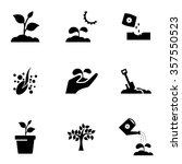 vector black growing icon set. | Shutterstock .eps vector #357550523