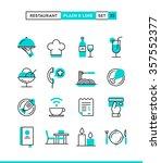 restaurant  phone ordering ... | Shutterstock .eps vector #357552377