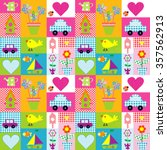 gift wrapping paper seamless... | Shutterstock .eps vector #357562913