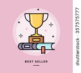 best seller book  flat design... | Shutterstock .eps vector #357575777