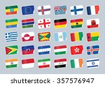 set of world flags. shop tag  | Shutterstock .eps vector #357576947
