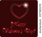 happy valentine's day. love... | Shutterstock .eps vector #357583193