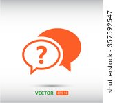 chat  question  icon. one of...   Shutterstock .eps vector #357592547