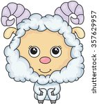 cartoon sheep. illustration | Shutterstock . vector #357629957
