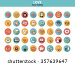 love icon set with long shadow... | Shutterstock .eps vector #357639647