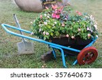 Gardening Cart With Flower Pot...