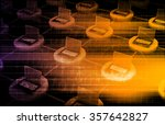 supply channel coordination or... | Shutterstock . vector #357642827