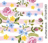 Vector Seamless Roses Floral...