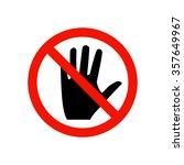 prohibiting sign. | Shutterstock .eps vector #357649967
