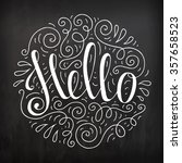 black and white doodle... | Shutterstock .eps vector #357658523