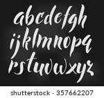brush style vector alphabet... | Shutterstock .eps vector #357662207