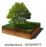3d illustration of soil cutaway.... | Shutterstock . vector #357699977