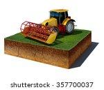 3d illustration of soil cutaway....   Shutterstock . vector #357700037