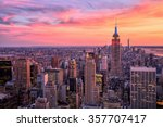 new york city midtown with... | Shutterstock . vector #357707417