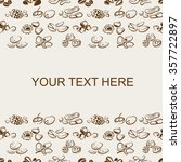 background of nuts pattern with ... | Shutterstock .eps vector #357722897