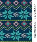 knitted bright seamless winter... | Shutterstock .eps vector #357725627