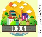 london city vector illustration | Shutterstock .eps vector #357727043