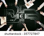 creative work of business team   Shutterstock . vector #357727847