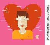valentine's day. enamored man... | Shutterstock .eps vector #357729053
