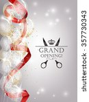 grand opening card with ... | Shutterstock .eps vector #357730343