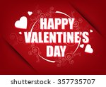 happy valentines day card... | Shutterstock .eps vector #357735707