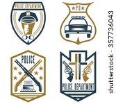 set of vintage police law... | Shutterstock .eps vector #357736043