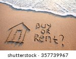 buy or rent concept  text on... | Shutterstock . vector #357739967