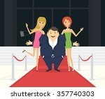fat famous man with his thin... | Shutterstock .eps vector #357740303
