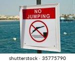 no jumping announcement | Shutterstock . vector #35775790
