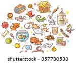 Set Of Colorful Cartoon Pet...