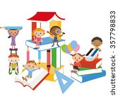 book and children | Shutterstock .eps vector #357798833