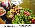 cuisine on the boat    bangkok  ... | Shutterstock . vector #357805553