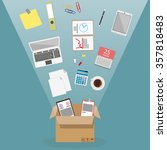 moving into a new office  | Shutterstock . vector #357818483