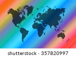 world map on colorful... | Shutterstock .eps vector #357820997