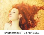 beautiful young woman portrait... | Shutterstock . vector #357848663