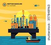 oil platform for oil... | Shutterstock .eps vector #357848963