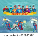 superhero team horizontal... | Shutterstock .eps vector #357849983