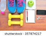 workout and fitness planning...   Shutterstock . vector #357874217