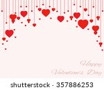 background of hearts on strings ... | Shutterstock .eps vector #357886253