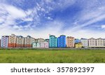 row of houses and apartments... | Shutterstock . vector #357892397