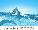 alps matterhorn mountain winter ...   Shutterstock .eps vector #357921557