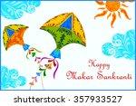 illustration of makar sankranti ...   Shutterstock .eps vector #357933527