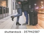 couple of lovers is kissing...   Shutterstock . vector #357942587