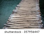 Photo Closeup Of Timber Path...